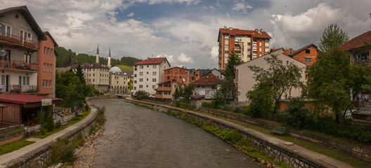 A view on the Ibar river in Rozaje - Montenegro © John Baggen