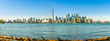 Panoramic skyline view at the Toronto from Toronto Islands in Canada