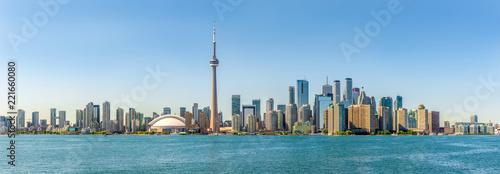 Leinwanddruck Bild Panoramic skyline view at the Toronto city in Canada