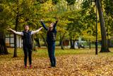 People throwing leaves  - 221666229