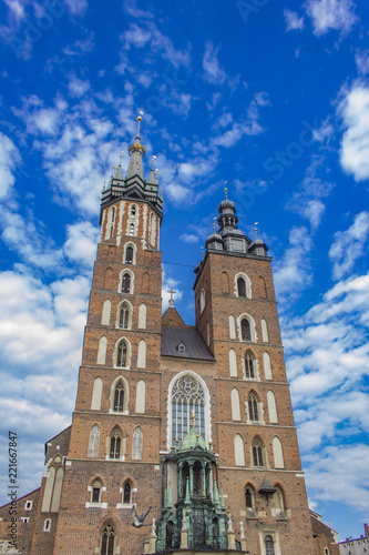 Foto Murales Basilica of Saint Mary in Krakow, Poland