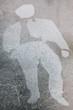 Street art, silhouette d'un homme