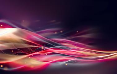 glowing wavy lines