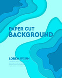 Paper cut background. Abstract realistic paper decoration for your design. Vector design layout for business presentations, flyers, posters and invitations.