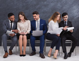 Group of people waiting for job interview - 221692860