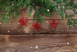 christmas background with red stars - 221694874