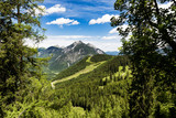 The beautiful mountains above Lake Achen in Austria. The highest Lake in the Austrian Tyrol - 221696804