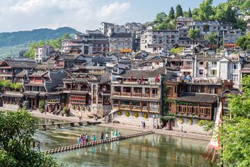 Brücke über den Fluss in Fenghuang © Frank Schröder