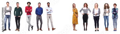 Naklejka Group of people