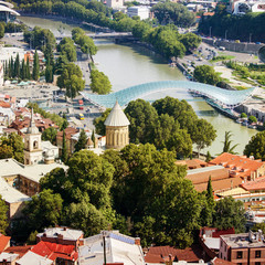 Top view of the old city of Tbilisi © Tatyana Gladskih