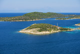 Aerial view on sithonian islands, Greece