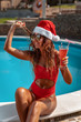 Leinwandbild Motiv Tropical New Year Vacations
