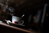 Steamy coffee cup - 221724452