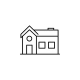 house icon. Element of building and landmark outline icon for mobile concept and web apps. Thin line house icon can be used for web and mobile - 221725823