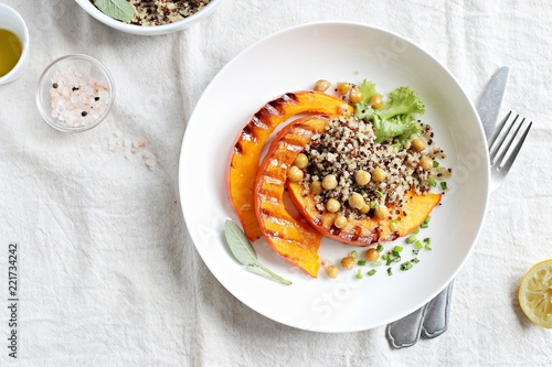 Pumpkin, Quinoa, Chick pea. Plant based, Super food, Clean eating, Vegetaria - 221734242