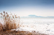 Leinwanddruck Bild - Lake Balaton in winter