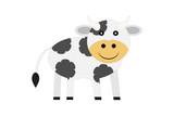 Vaca blanca y de manchas negras. - 221738011