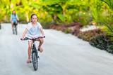 Family on bike ride - 221739808