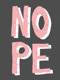 Nope Retro Typographic Design - 221739832