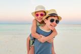 Kids having fun at beach - 221740419