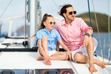 Family on board of sailing yacht - 221741049