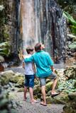 Family at waterfall - 221741859