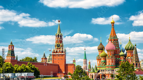 Moscow Kremlin and St Basil's Cathedral, Russia