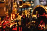 Engine of retro steam car - 221749043
