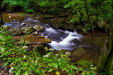 Long Exposure Waterfall Photography, Fresh Mountain Stream Moving Water
