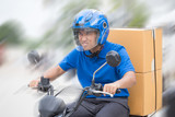 Deliveryman ride motorcycle service, Fast and Free Transport Delivery