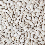 Uncooked white beans background - 221778466