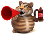 Fun cat - 3D Illustration - 221782248