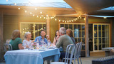 Summer barbecue party with friends - 221784042
