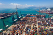 Leinwanddruck Bild - Kwai Tsing Container Terminals in Hong Kong