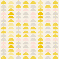 Modern vector abstract seamless geometric pattern with  semicircles in retro scandinavian style © dinadankersdesign
