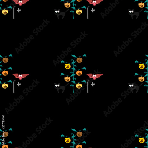 halloween pattern vector with trendy memphis geometric seamless pattern hipster colorful background popular for fashion