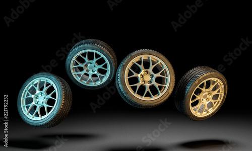 new car tire - 221792232