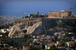 Parthenon famous temple on acropolis hill, Athens Greece