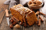 gingerbread cake and spices - 221793418