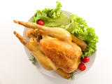 roasted chicken and salad - 221793891