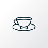 Tea cup icon line symbol. Premium quality isolated porcelain element in trendy style. - 221794809