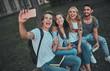 Leinwandbild Motiv Students near university