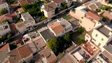 Marseille City aerial drone 4k, above districts and sea - 221805079