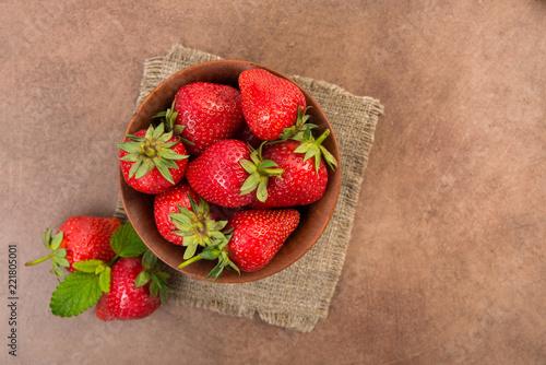 Foto Murales Fresh red strawberry