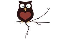 Owl  Logo Design Sticker