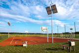 Sports playground with eco-friendly lighting - 221808464