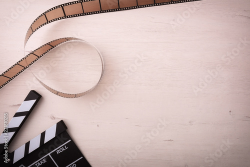 Background of watching movies objects on the left