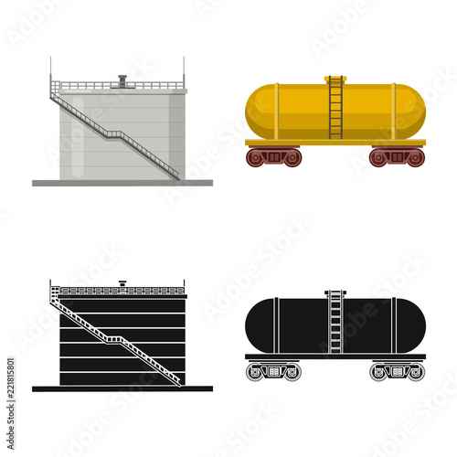 Vector Illustration Of Oil And Gas Icon Collection Of Oil And
