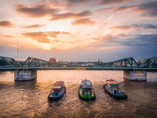 Bridge is beautiful at sunset. Bangkok, Thailand. © touch_of_eyes