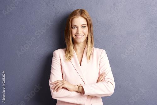 Naklejka Beautiful young woman. Studio portrait